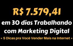 R$ 7.579,41 em 30 Dias Trabalhando com Marketing Digital
